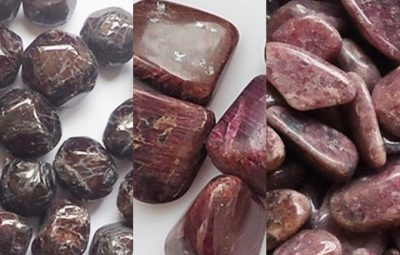Cristale si pietre semipretioase rosii