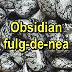 OBSIDIAN FULG DE NEA Pietre rulate