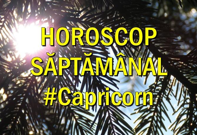 Horoscop saptamanal Capricorn