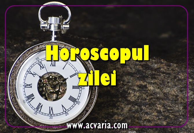 horoscop fecioara maine acvaria