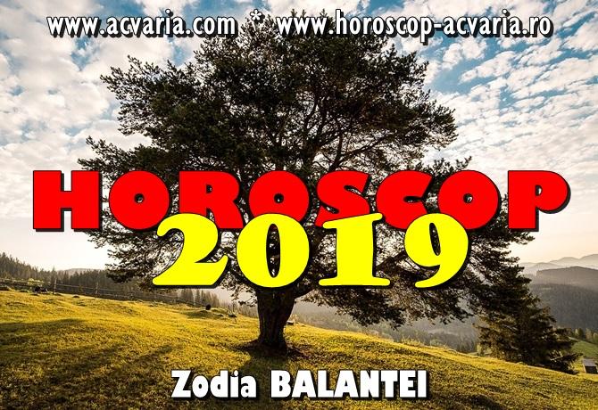 Horoscop 2019 zodia Balantei