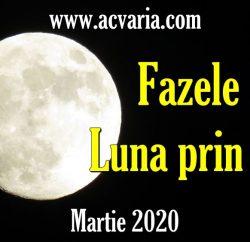 Fazele Lunii in martie 2020