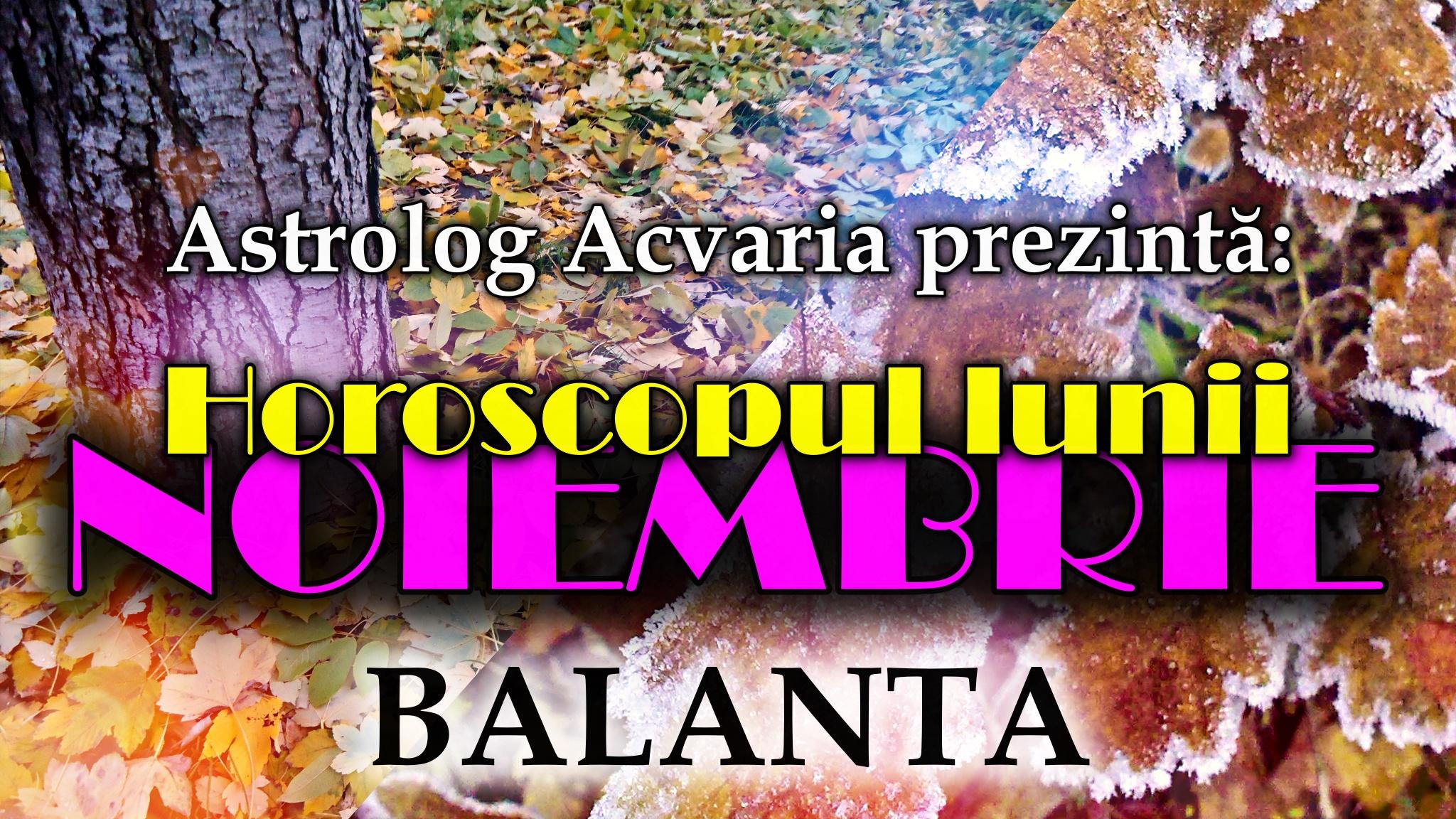 Horoscopul lunii NOIEMBRIE * Zodia BALANTEI