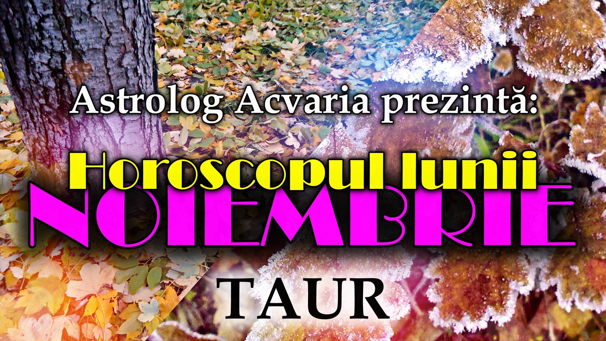 Horoscopul lunii NOIEMBRIE * Zodia TAURULUI